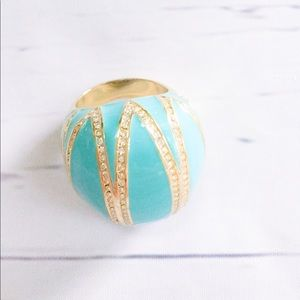 ⭐️CRYSTAL ACCENT TURQUOISE DOME RING⭐️